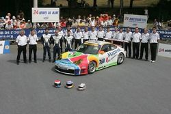 Romain Dumas, Raymond Narac, Luca Riccitelli, et la IMSA Performance Matmut Team avec la IMSA Performance Matmut Porsche 911 GT3 RSR