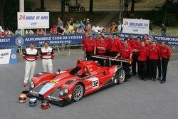 Michael Vergers, Juan Barazi, Neil Cunningham, et l'équipe Barazi - Epsilon avec la Barazi - Epsilon Courage C65 AER