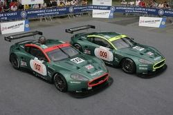 The pair of Aston Martin Racing Aston Martin DBR9