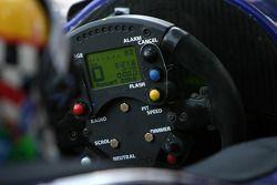 Steering wheel of the Binnie Motorsports Lola 05/42 Zytek