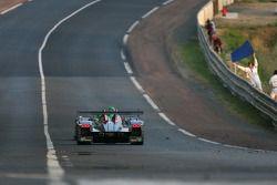 #8 Audi Sport Team Joest Audi R10: Marco Werner, Frank Biela, Emmanuele Pirro passes #16 Pescarolo S