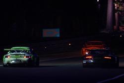 #90 White Lightning Racing Porsche 911 GT3 RSR: Jorg Bergmeister, Tracy Krohn, Nic Jonsson, #62 Russian Age Racing Aston Martin DBR9: David Brabham, Nelson A. Piquet, Antonio Garcia