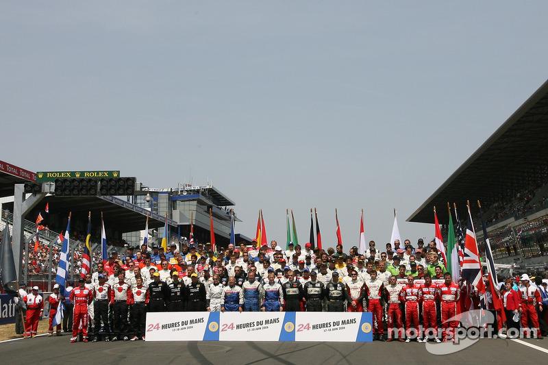 Séance photos: tous les pilotes des 24 Heures du Mans 2006