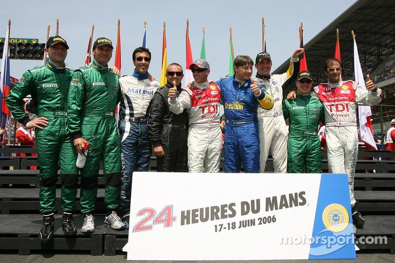 Les pilotes italiens des 24 Heures du Mans 2006