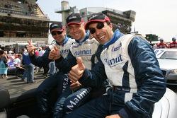 Romain Dumas, Raymond Narac et Luca Riccitelli