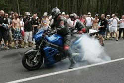 Burnout session at Indianapolis