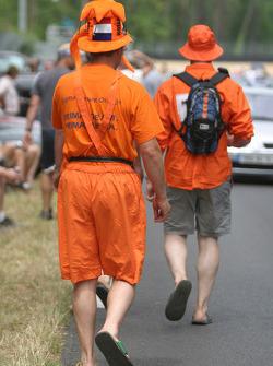Des fans néerlandais