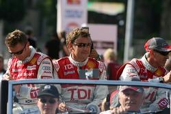 Allan McNish, Tom Kristensen et Rinaldo Capello
