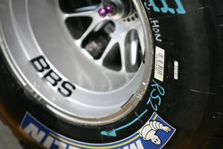 Detail of a Michelin tire
