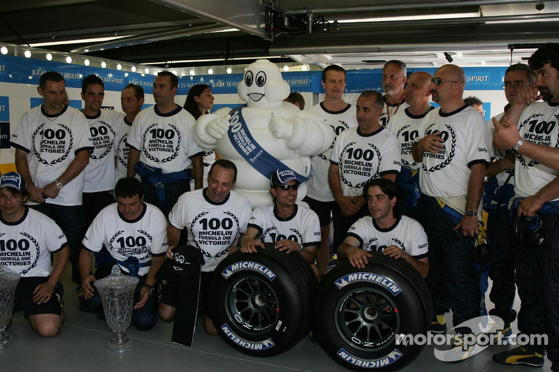 L'équipe Michelin fête sa 100e victoire en Grand Prix