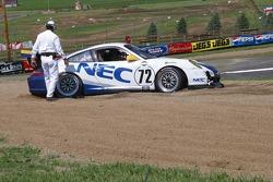 Tête-à-queue pour la #72 Tafel Racing Porsche GT3 Cup: Robin Liddell, Wolf Henzler