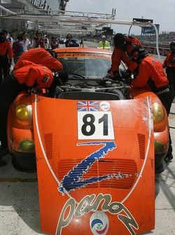 #81 Team LNT Panoz Esperante GTLM in the pits
