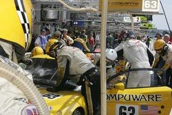 #63 Corvette Racing Corvette C6R final driver change