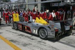 #7 Audi Sport Team Joest Audi R10 in the pits