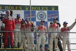 LMP1 podium: Audi Sport Team Joest on the podium