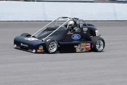 On the track - Pete Shepherd III at the wheel