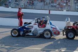 Staging Tom Hessert for the qualifying race