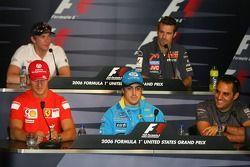 Conferencia de prensa de la FIA: Michael Schumacher, Fernando Alonso, Juan Pablo Montoya y Scott Spe