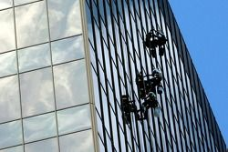 Window cleaning downtown