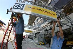 Corvette Racing team members at work