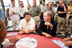 Tony Stewart talks poker with NASCAR Vice President of Corporate Communications Jim Hunter