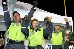 Krohn Racing team members celebrate victory