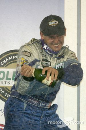 GT podium: champagne for Andy Lally