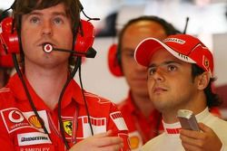 Rob Smedly, Felipe Massa Ferrari mühendis ve Felipe Massa