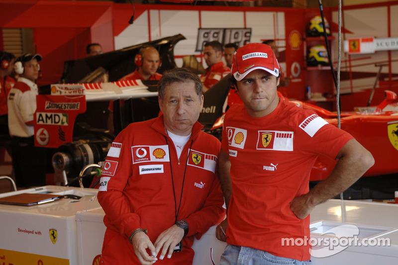 Jean Todt et Felipe Massa