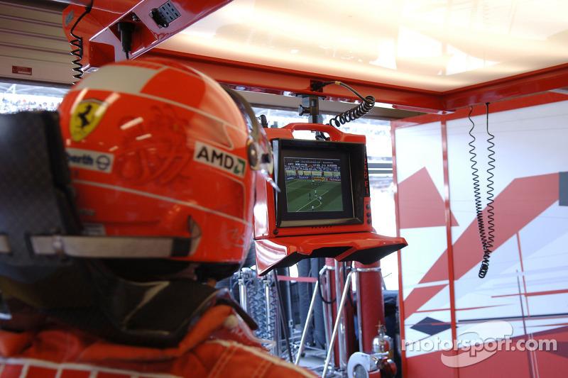 Michael Schumacher l'équipe allemande qui joue à la Coupe du monde