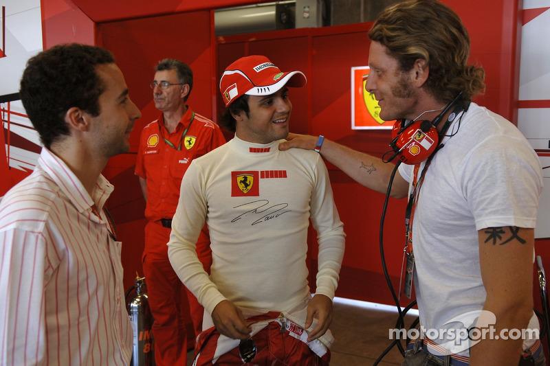 Felipe Massa, Lapo Elkann et Nicolas Todt