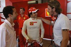 Felipe Massa, Lapo Elkann and Nicolas Todt