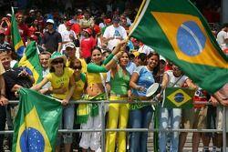 Brazilian Fans in the grandstand