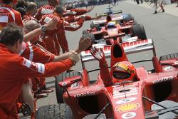 Le vainqueur Michael Schumacher, Ferrari