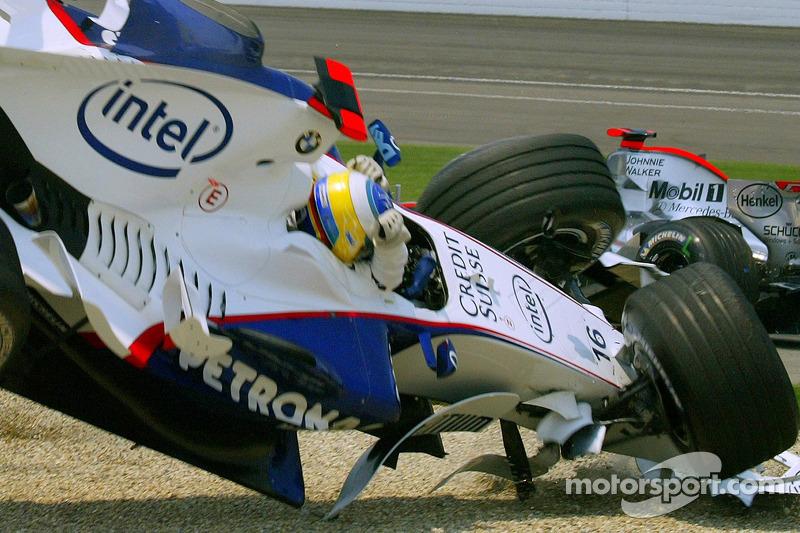 Accident au premier virage : Nick Heidfeld ne roule plus