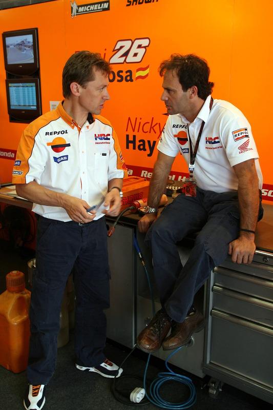Mike Leitner y Alberto Puig