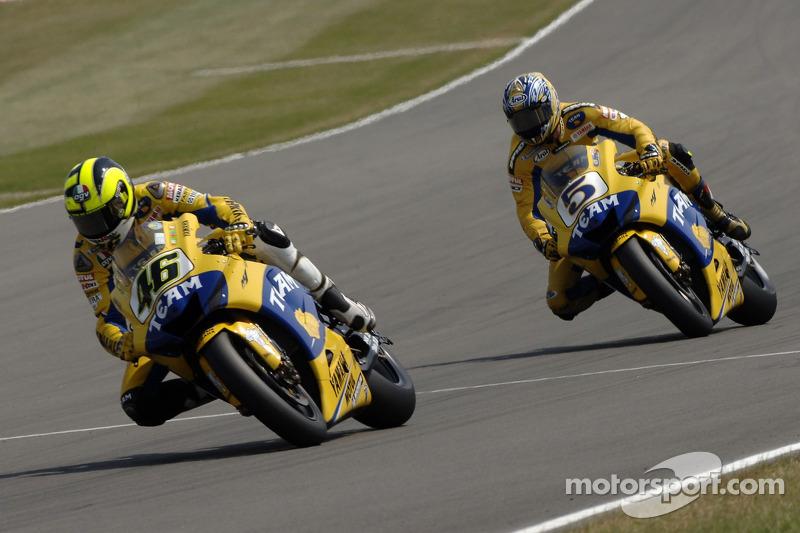 Valentino Rossi dan Colin Edwards