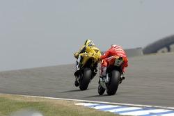 Valentino Rossi en Marco Melandri