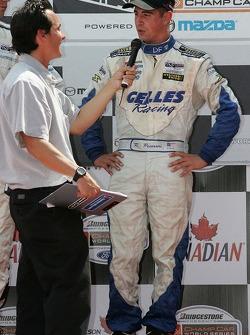 Podium: race winner Robbie Pecorari