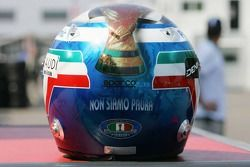Le casque de la victoire de la Coupe du monde de l'Italie de Jarno Trulli