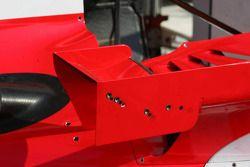 Les petits ailerons ajustables sur les petits ailerons latéraux de la F2006 Ferrari