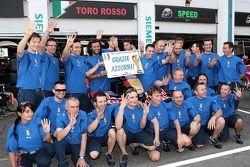 Scuderia Toro Rosso fête la victoire à Coupe du monde de l'Italie