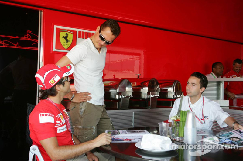 Felipe Massa, Michael Schumacher et Nicolas Todt