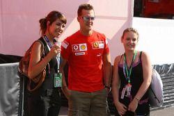 Michael Schumacher en charmante compagnie