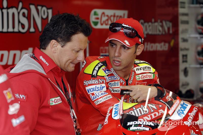 Marco Melandri, Honda, mit Fausto Gresini