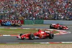 Michael Schumacher, Felipe Massa and Fernando Alonso