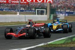Kimi Räikkönen devance Giancarlo Fisichella