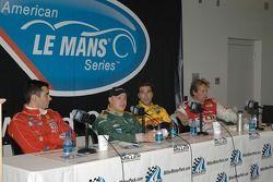 Post qualifying press conference: Jaime Melo, Tomas Enge, Lucas Luhr, Frank Biela