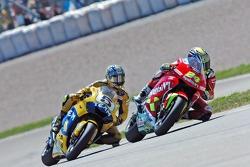 Toni Elias, Honda; Colin Edwards, Yamaha