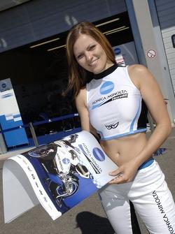 A Konica Minolta Honda girl